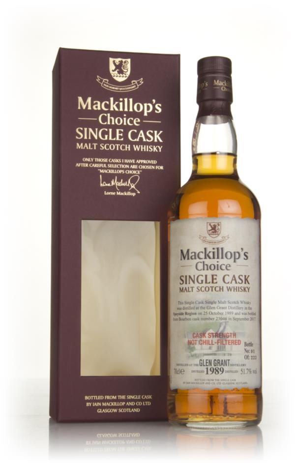Glen Grant 27 Year Old 1989 (cask 23046) - Mackillops Choice Single Malt Whisky