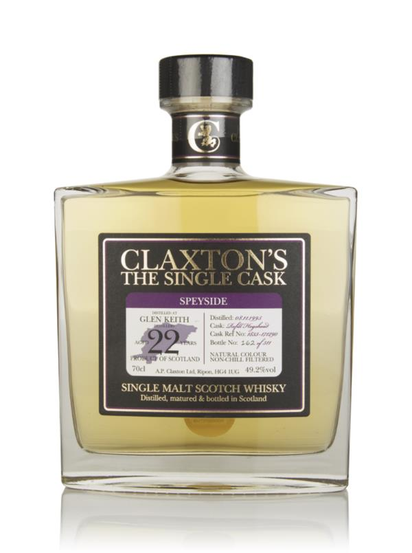 Glen Keith 22 Year Old 1995 - Claxtons Single Malt Whisky