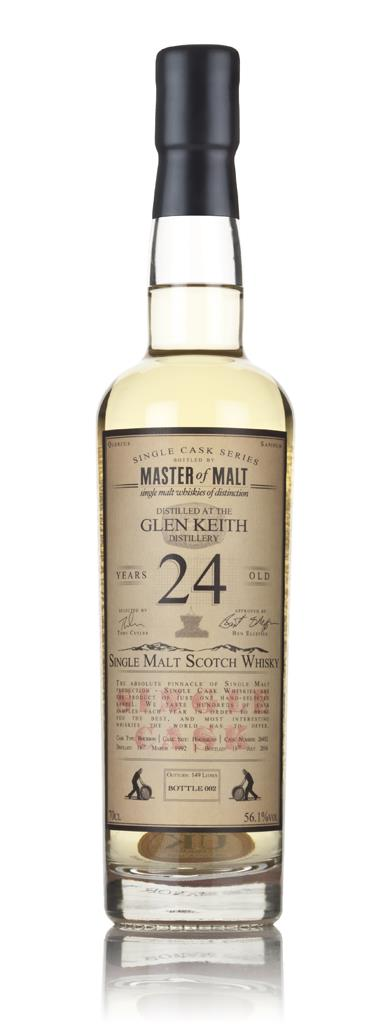 Glen Keith 24 Year Old 1992 - Single Cask (Master of Malt) 3cl Sample Single Malt Whisky