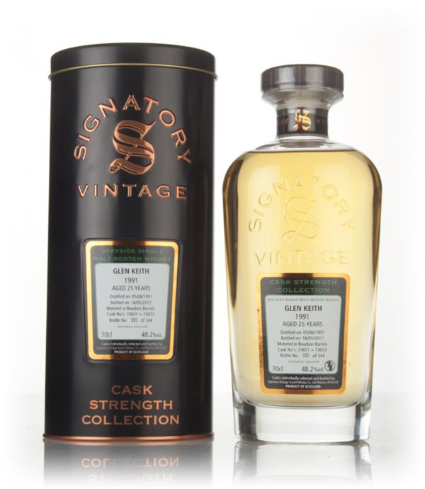 Glen Keith 25 Year Old 1991 (cask 73651 & 73653) - Cask Strength Colle Single Malt Whisky