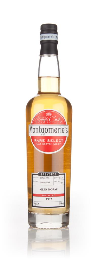 Glen Moray 23 Year Old 1991 (cask 4675) - Rare Select (Montgomeries) Single Malt Whisky