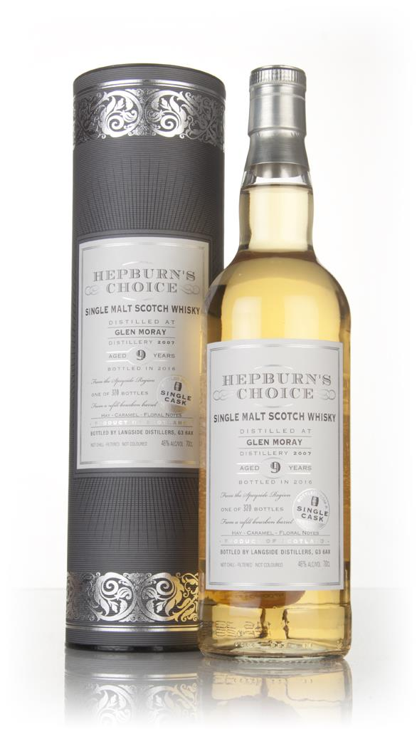 Glen Moray 9 Year Old 2007 - Hepburns Choice (Langside) Single Malt Whisky