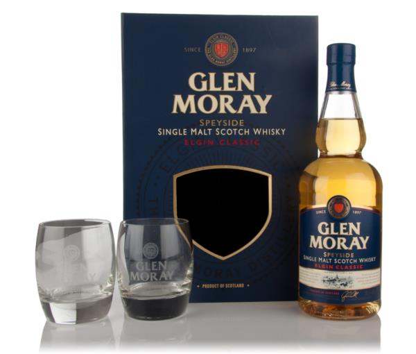 Glen Moray Classic Gift Pack with 2x Glasses Single Malt Whisky