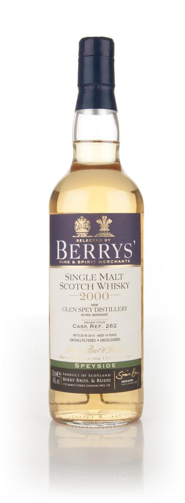 Glen Spey 14 Year Old 2000 (cask 262) (Berry Bros. & Rudd) Single Malt Whisky