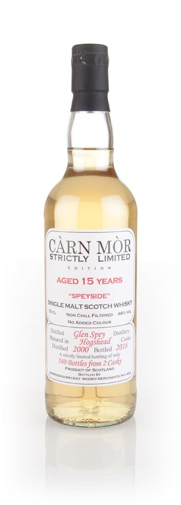 Glen Spey 15 Year Old 2000 - Strictly Limited (Carn Mor) Single Malt Whisky