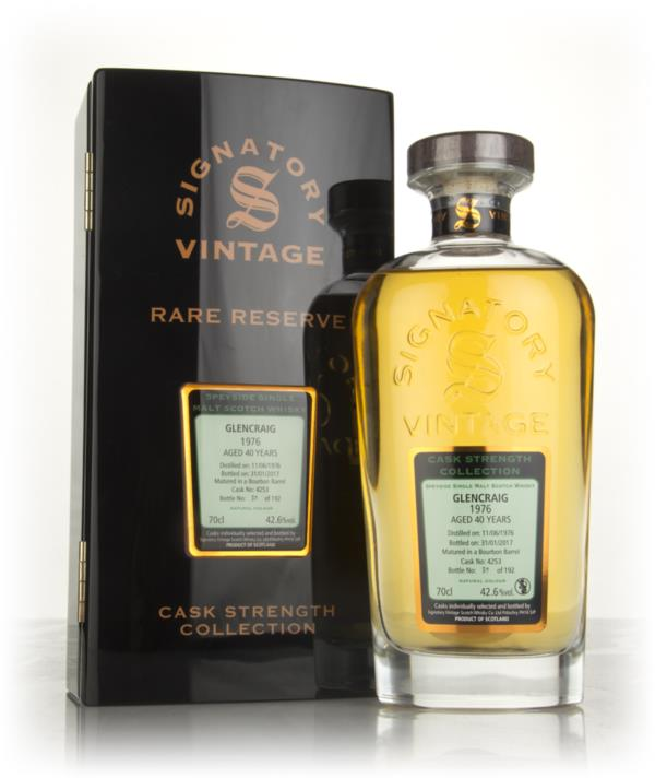 Glencraig 40 Year Old 1976 (cask 4253) - Cask Strength Collection Rare Single Malt Whisky