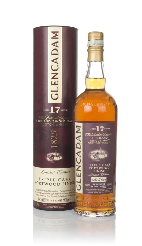 Glencadam 17 Year Old - Triple Cask Portwood Finish Single Malt Whisky