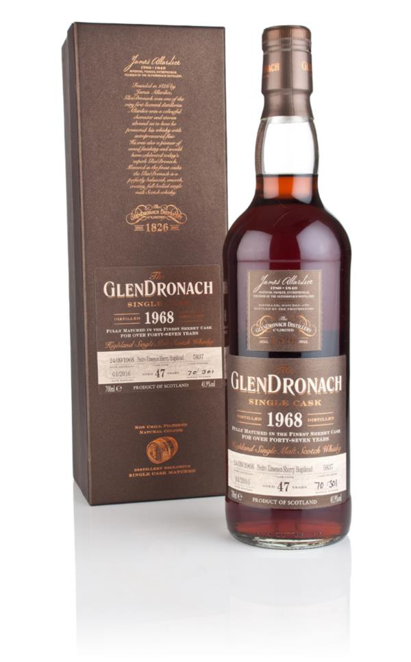 GlenDronach 47 Year Old 1968 (cask 5837) 3cl Sample Single Malt Whisky