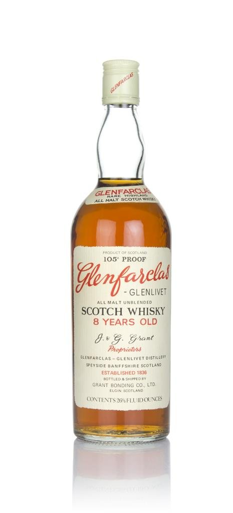 Glenfarclas-Glenlivet 8 Year Old 105 Proof  - 1970s Single Malt Whisky