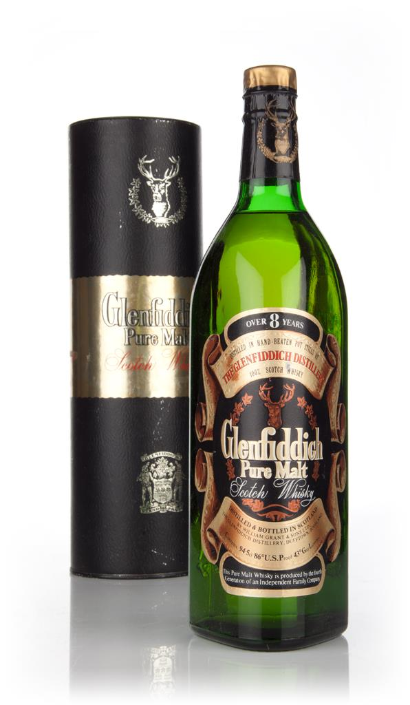 Glenfiddich Pure Malt 8 Year Old 95cl - 1970s Single Malt Whisky