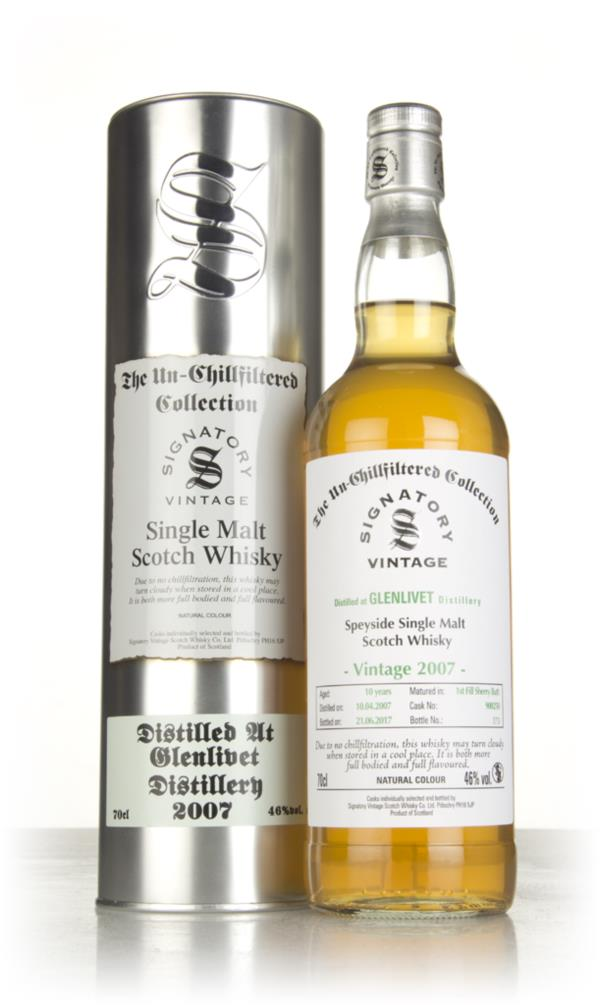 Glenlivet 10 Year Old 2007 (cask 900250) - Un-Chillfiltered Collection Single Malt Whisky