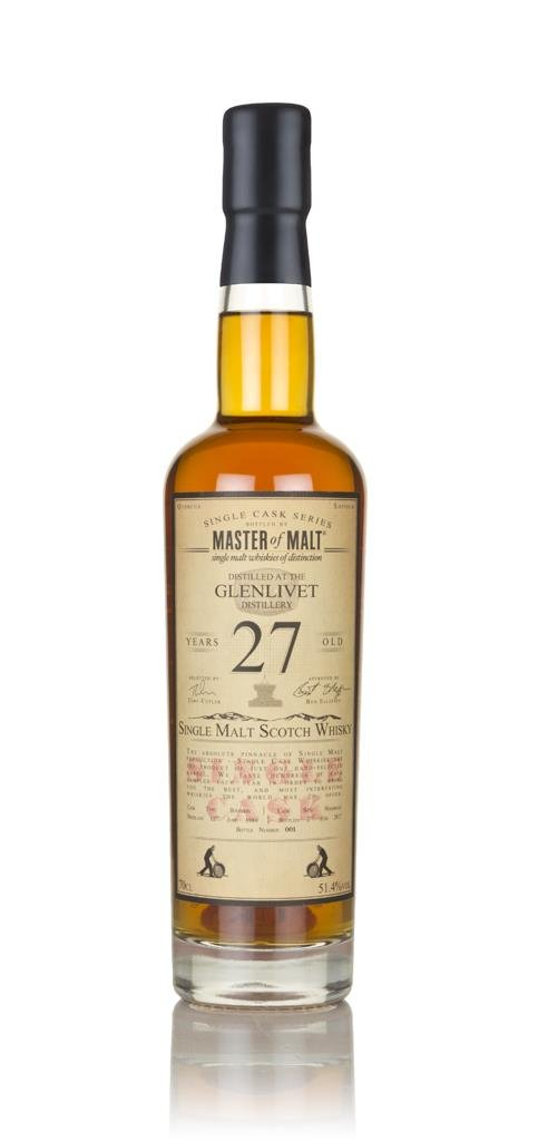 Glenlivet 27 Year Old 1989 - Single Cask (Master of Malt) 3cl Sample Single Malt Whisky