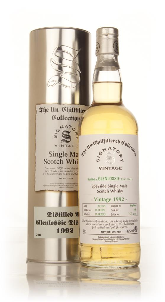 Glenlossie 20 Year Old 1992 (cask 3439) - Un-Chillfiltered (Signatory) Single Malt Whisky