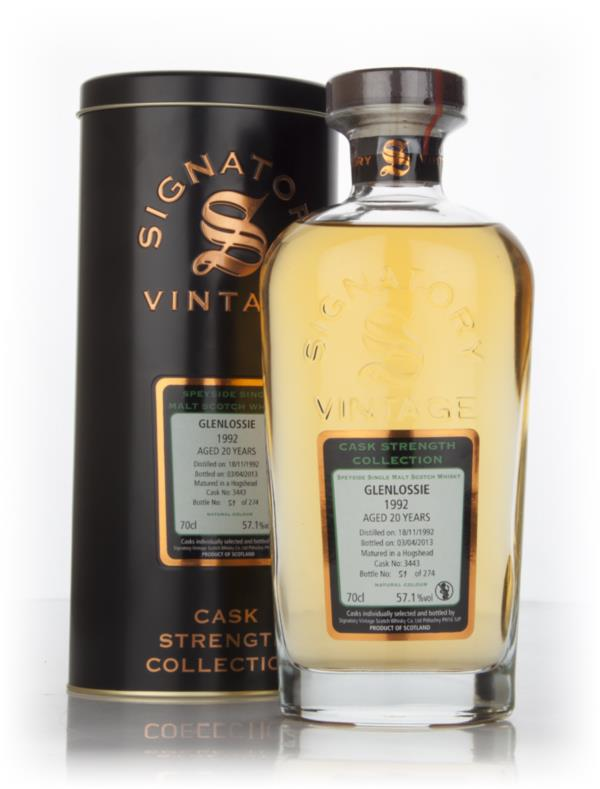 Glenlossie 20 Year Old 1992 (cask 3443) - Cask Strength Collection (Si Single Malt Whisky 3cl Sample