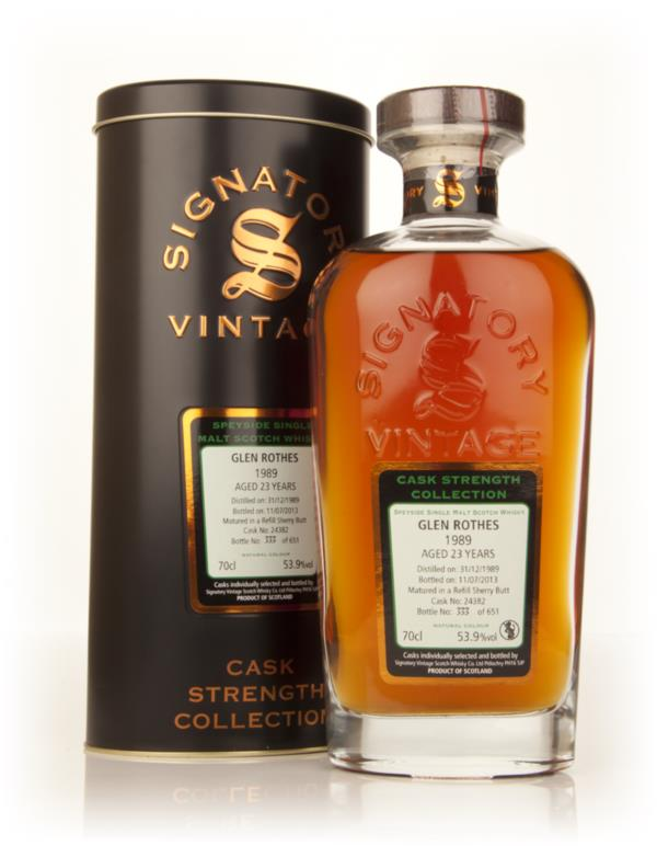Glenrothes 23 Year Old 1989 (cask 24382) - Cask Strength Collection (S Single Malt Whisky 3cl Sample