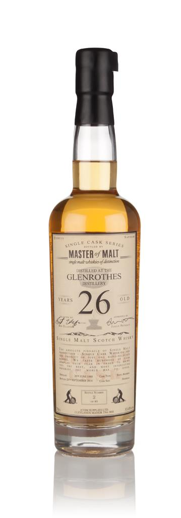 Glenrothes 26 Year Old 1988 - Single Cask (Master of Malt) 3cl Sample Single Malt Whisky
