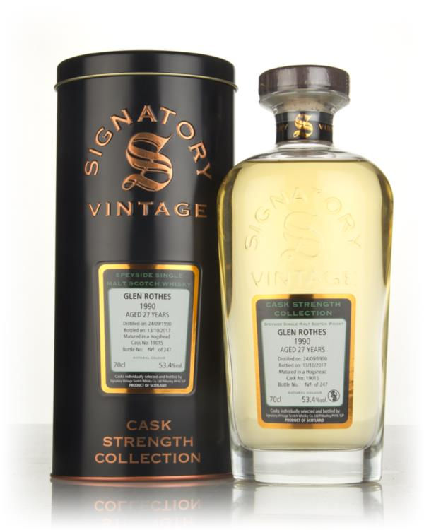 Glenrothes 27 Year Old 1990 (cask 19015) - Cask Strength Collection (S Single Malt Whisky