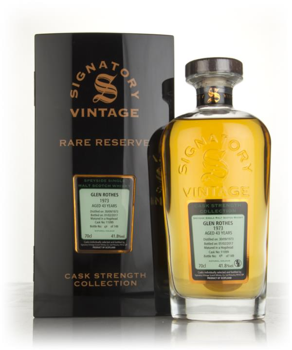 Glenrothes 43 Year Old 1973 (cask 11099) - Cask Strength Collection Ra Single Malt Whisky