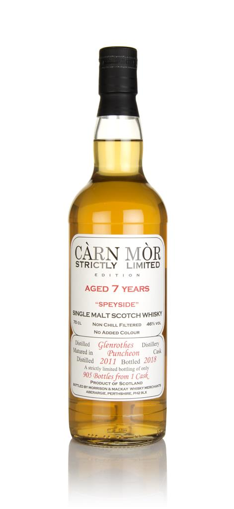 Glenrothes 7 Year Old 2011 - Strictly Limited (Carn Mor) Single Malt Whisky