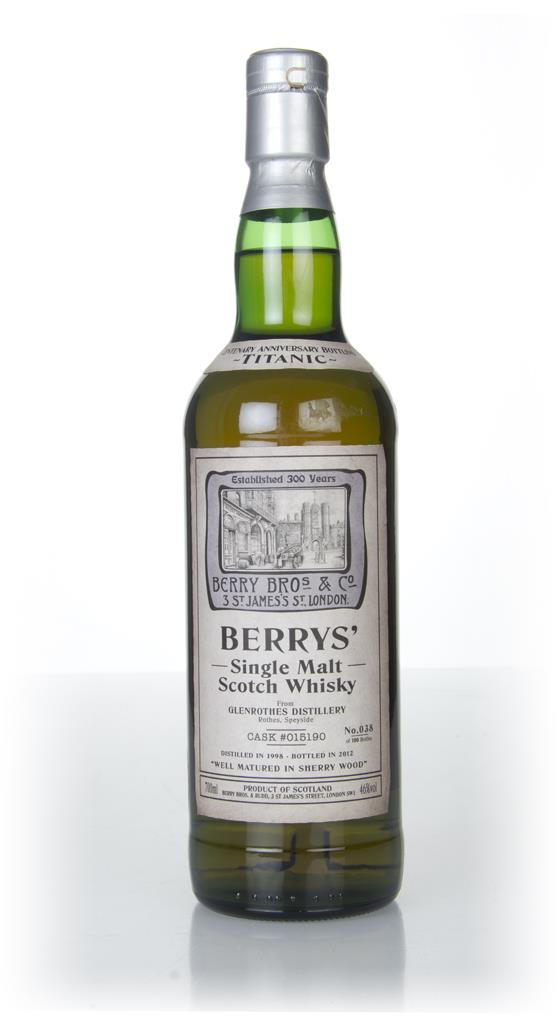 Glenrothes Titanic Centenary 1998 Berry Bros & Rudd Single Malt Whisky