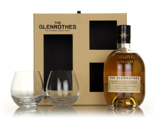 The Glenrothes Bourbon Cask Reserve Gift Pack with 2x Glasses Single Malt Whisky
