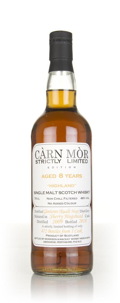 Glenturret 8 Year Old 2009 - Strictly Limited (Carn Mor) Single Malt Whisky