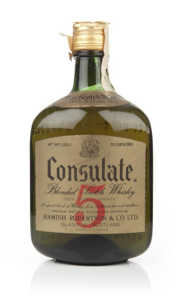 Consulate 5 Year Old Blended Scotch Whisky - 1960s Blended Whisky