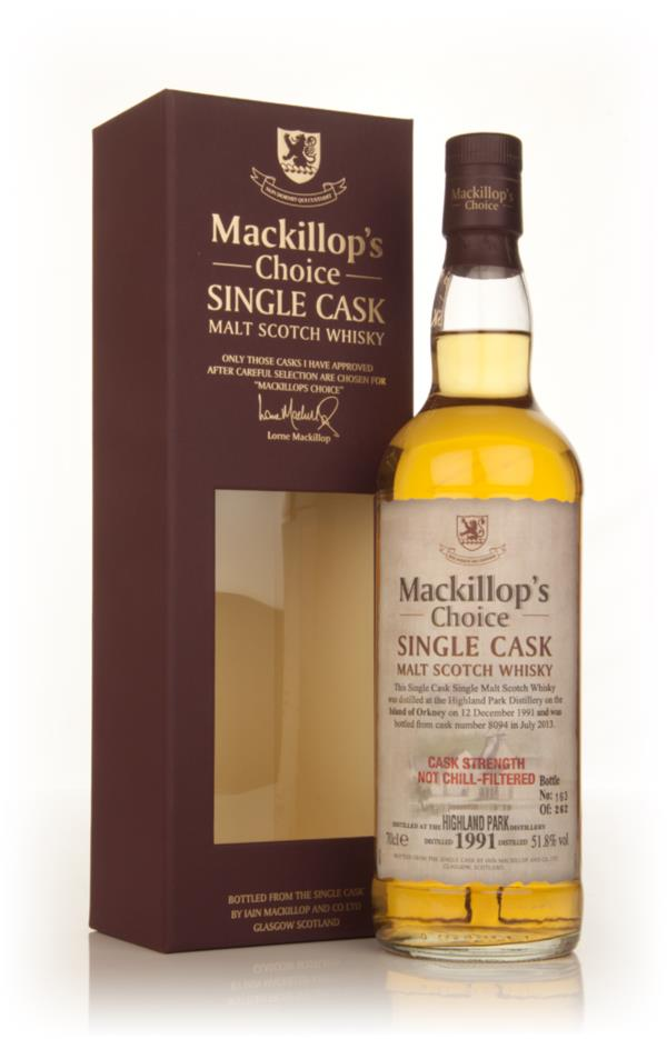 Highland Park 21 Year Old 1991 (cask 8094) - Mackillops Choice 3cl Sa Single Malt Whisky 3cl Sample