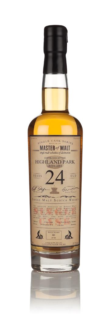 Highland Park 24 Year Old 1990 - Single Cask (Master of Malt) 3cl Samp Single Malt Whisky 3cl Sample