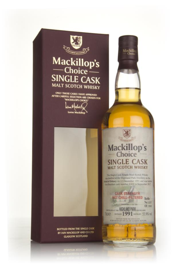 Highland Park 25 Year Old 1991 (cask 8103) - Mackillops Choice 3cl Sa Single Malt Whisky 3cl Sample