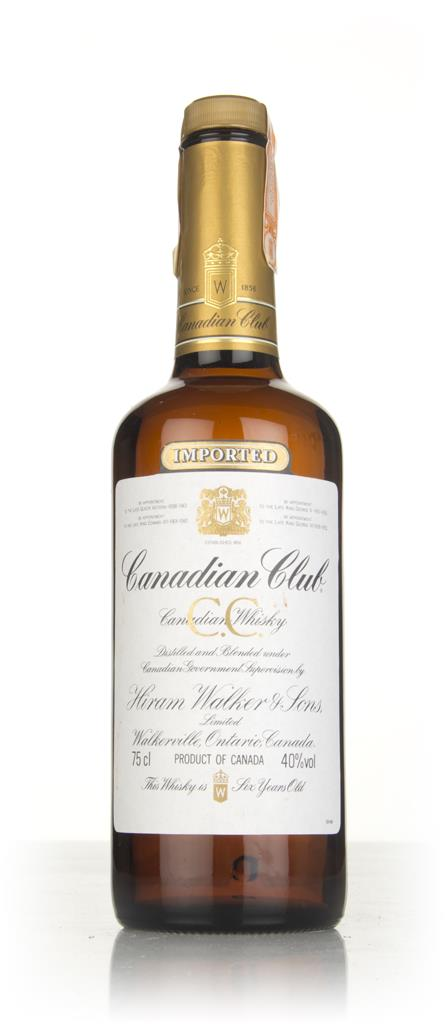 Canadian Club 6 Year Old Whisky (75cl) - 1980s Blended Whiskey