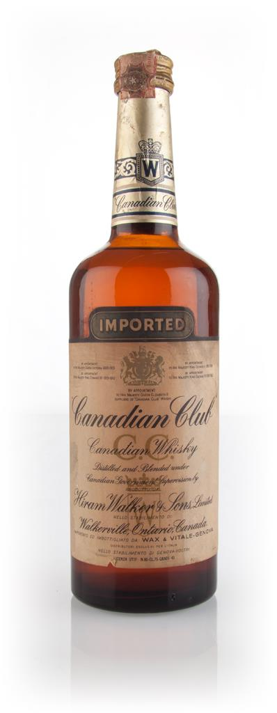 Canadian Club Whisky - 1970s 43% Blended Whiskey