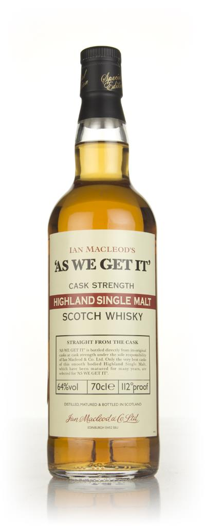 Highland Single Malt - As We Get It (Ian Macleod) 64% Single Malt Whisky