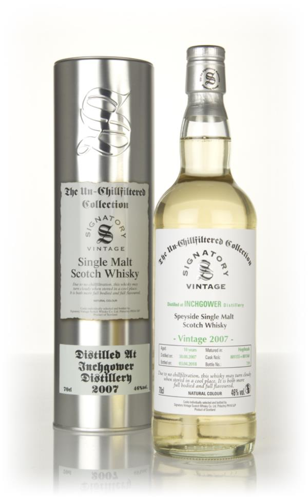 Inchgower 10 Year Old 2007 (casks 801155 & 801160) - Un-Chillfiltered Single Malt Whisky