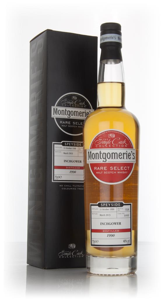 Inchgower 22 Year Old 1990 (cask 31032) - Rare Select (Montgomeries) Single Malt Whisky