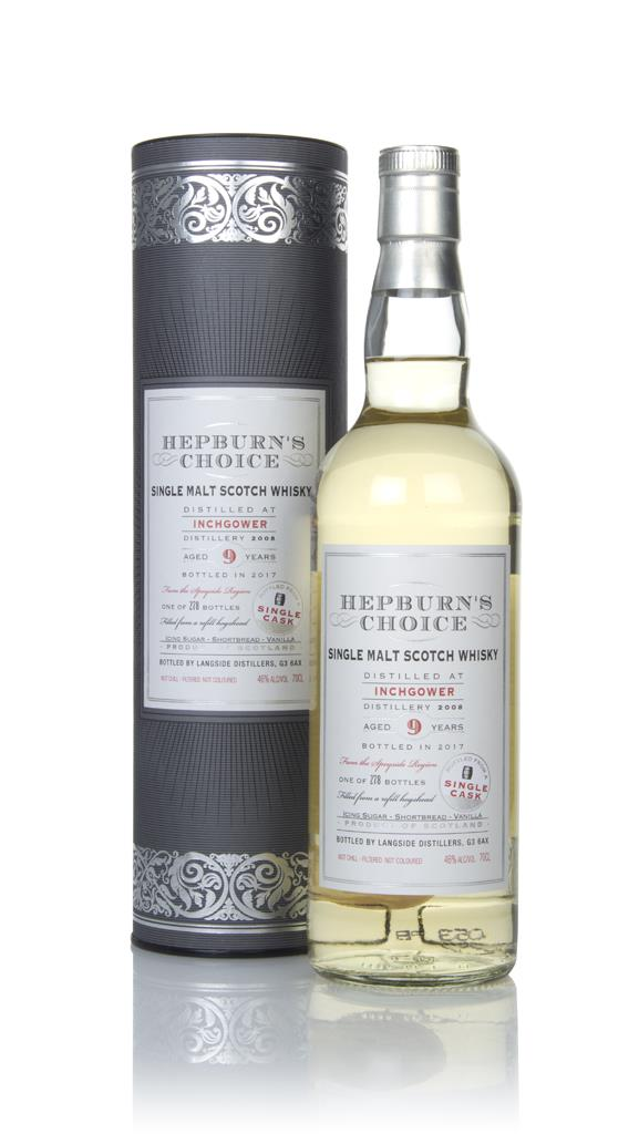 Inchgower 9 Year Old 2008 - Hepburn's Choice (Langside) Single Malt Whisky