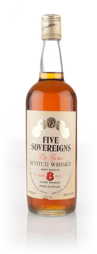 Five Sovereigns 8 Year Old - 1970s Blended Whisky