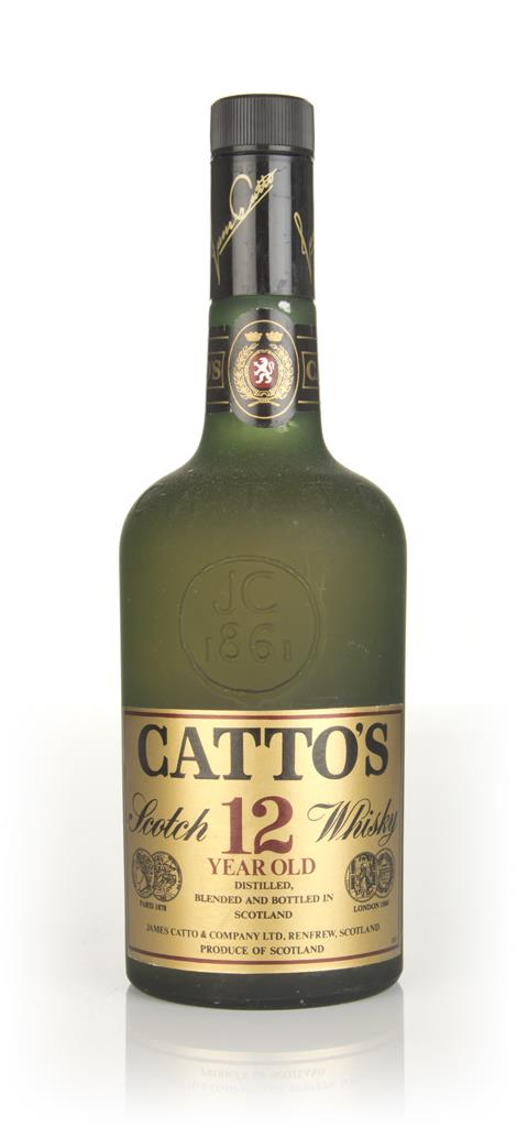 Cattos 12 Year Old Scottish Highland Whisky - 1970s Blended Whisky