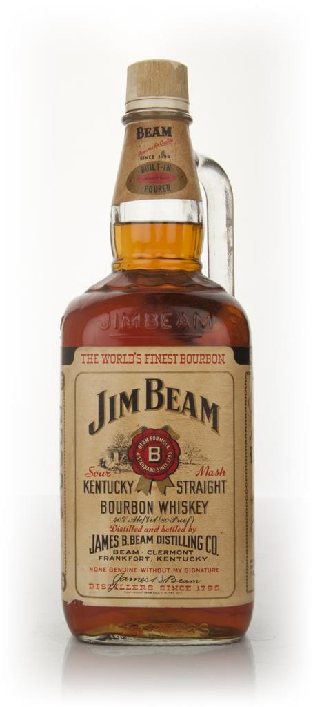 Jim Beam White Label 1.75l - 1970s 3cl Sample Bourbon Whiskey