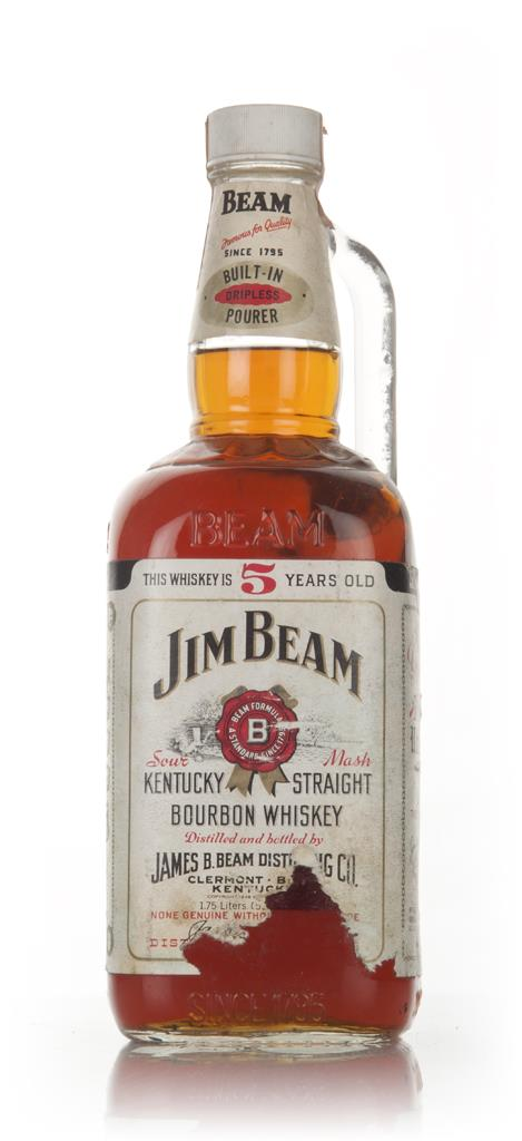 Jim Beam White 5 Year Old - 1970s Bourbon Whiskey