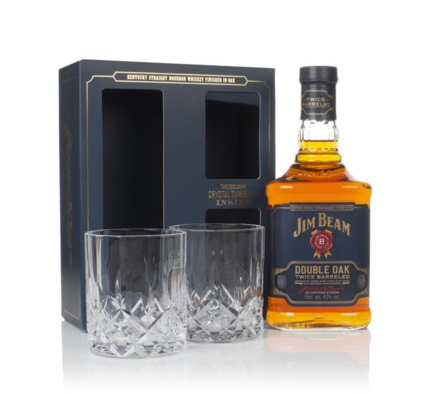 Jim Beam Double Oak Gift Pack with 2x Glasses Bourbon Whiskey