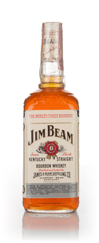 Jim Beam White Label - 1970s Bourbon Whiskey