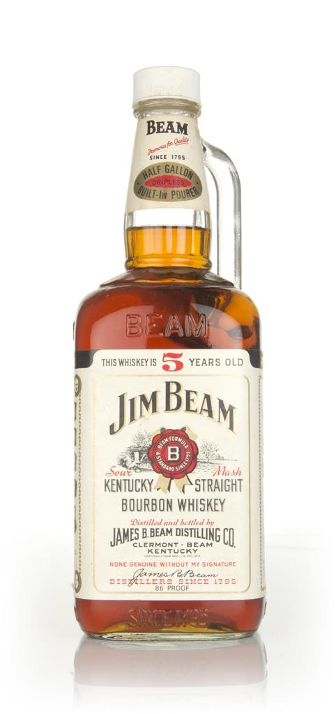 Jim Beam White Label 5 Year Old (1.9L) - 1970s Bourbon Whiskey