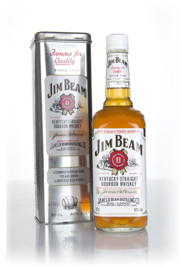 Jim Beam White Label - Commemorative Year 2000 Limited Edition Bourbon Whiskey