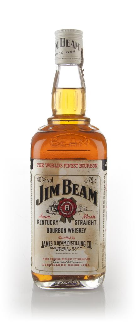 Jim Beam White Label - early 1980s Bourbon Whiskey