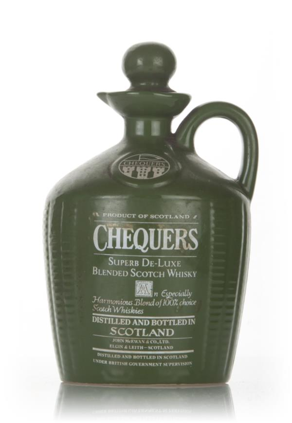 Chequers Superb de Luxe Ceramic Jug - 1970s Blended Whisky