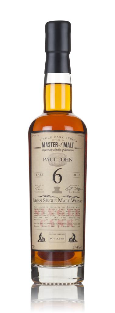 Paul John 6 Year Old 2009 (cask 522) - Single Cask (Master of Malt) Single Malt Whisky
