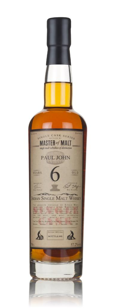 Paul John 6 Year Old 2009 (cask 534) - Single Cask (Master of Malt) Single Malt Whisky