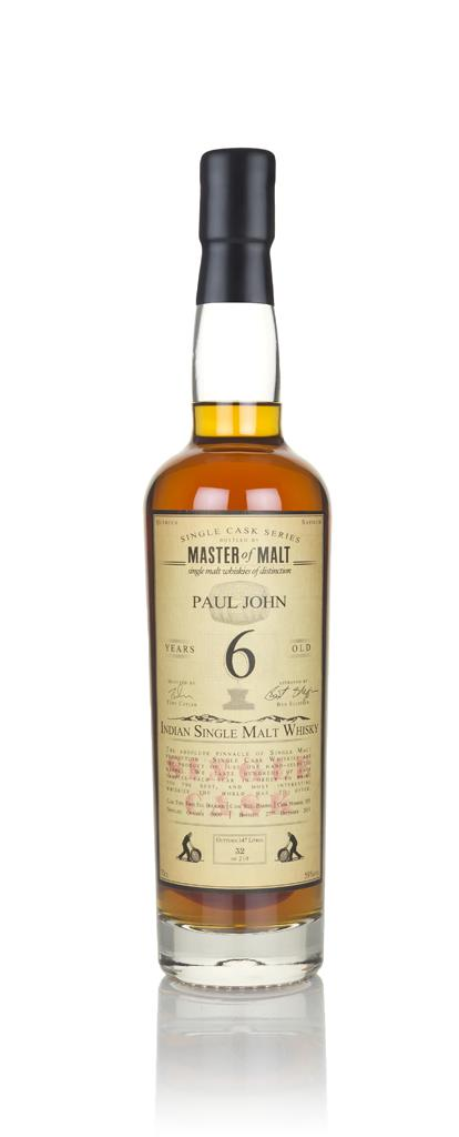 Paul John 6 Year Old 2009 - Single Cask (Master of Malt) 3cl Sample Single Malt Whisky