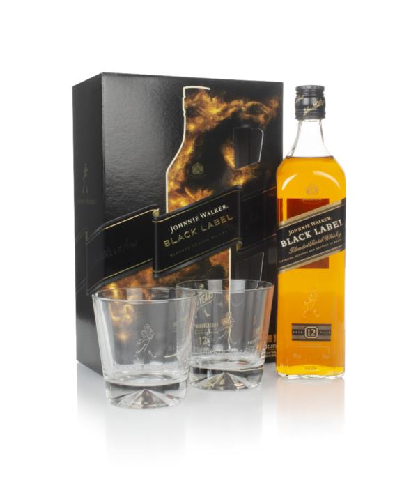 Johnnie Walker Black Label 12 Year Old Gift Pack with 2x Glasses Blended Whisky